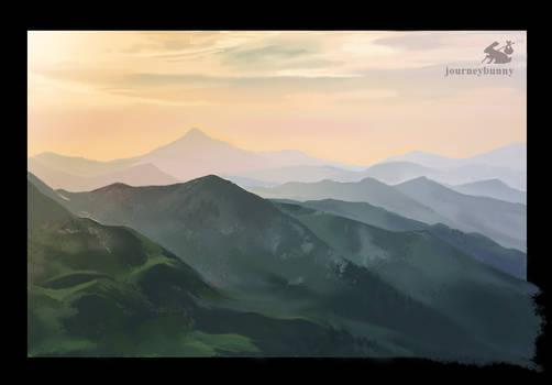Mountains Landscape (Painting Practice)
