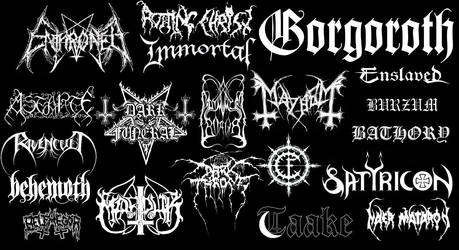 BLACK METAL band logos by GodSLAYERChris