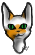 Cat 2 Headshot by ScarletKittyCat