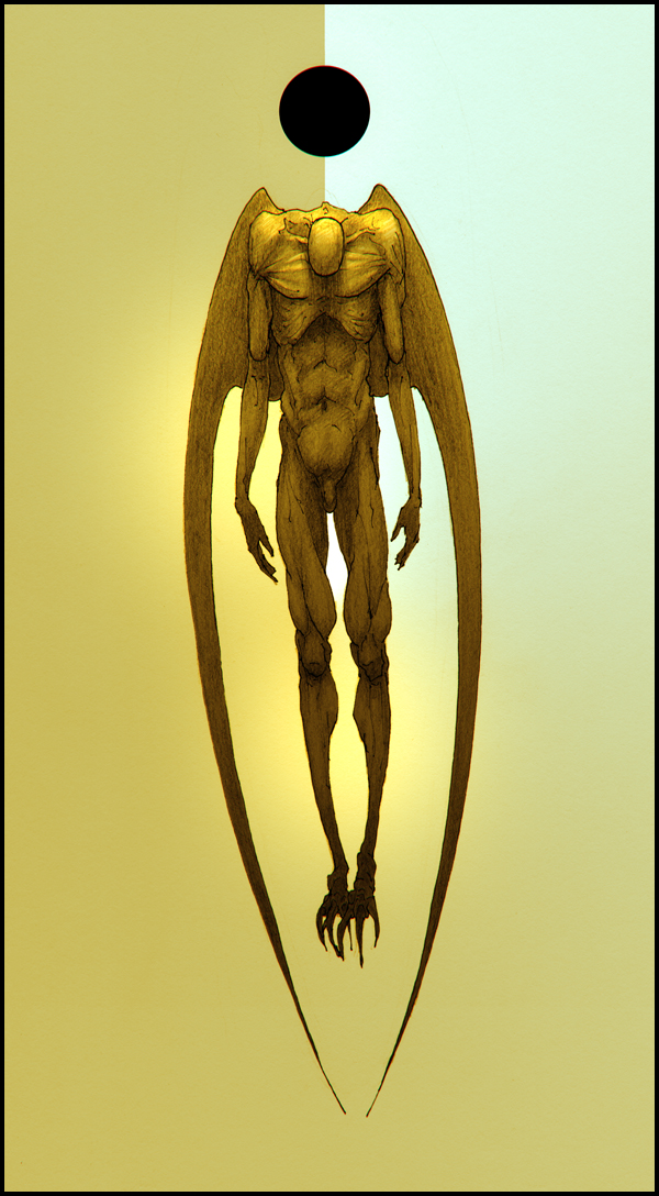 Icarus. Aimless flight. Mondengel. Dunkel Sonne by hypnothalamus
