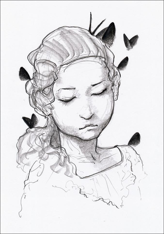 La petite fille aux papillons by hypnothalamus
