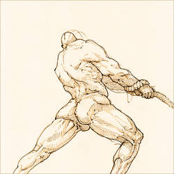 Heracles freeing Prometheus by hypnothalamus