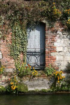 Doorway in spring