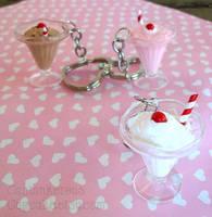 Milkshake Keychains by CantankerousCupcake