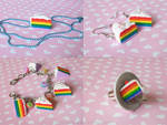 Rainbow Cake Jewelry