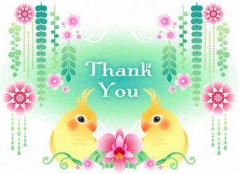 Cockatiels Thank you card by minercia