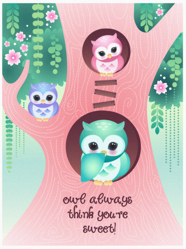 Owl always think you're sweet! by minercia