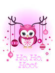 Owl Holiday card 2