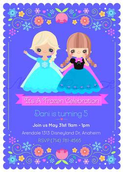 Frozen Pary invitation