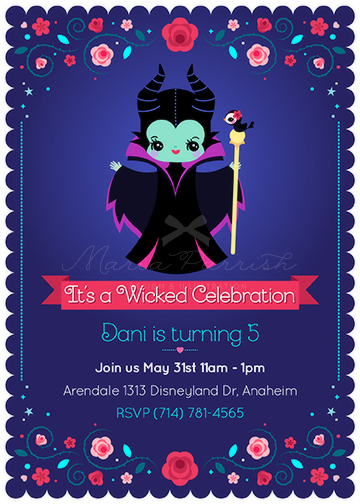 Maleficent Party Invitation by minercia