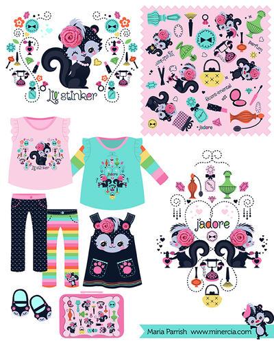 Lil' Stinker Children's apparel by minercia