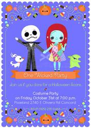Nightmare Before Christmas Halloween Invitation