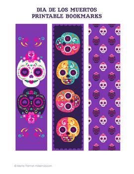 Dia De Los Muertos Bookmarks