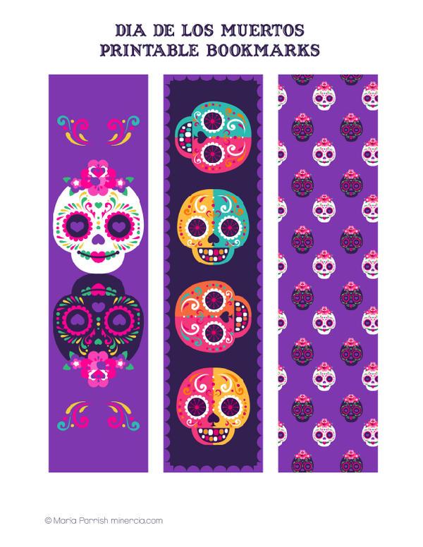 Dia De Los Muertos Bookmarks by minercia