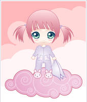 chibi baby in pink by minercia