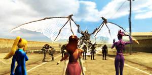 Zelda vs Omega Ridley by Dragoshi1
