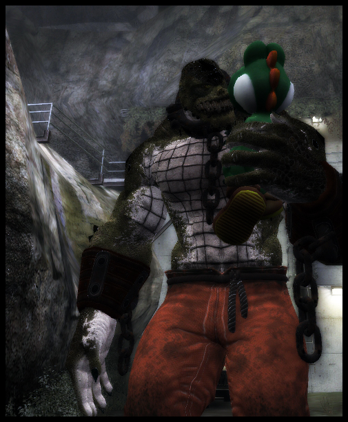 Killer Croc grabs Yoshi by Dragoshi1