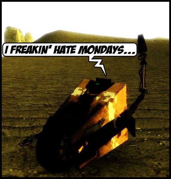 ClapTrap hates mondays by Dragoshi1