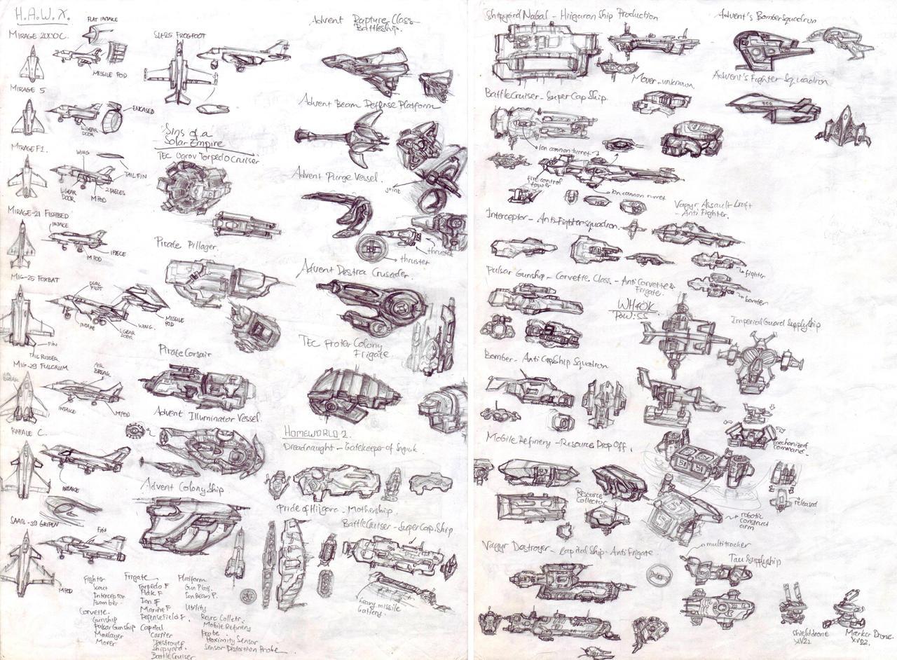 Spaceships and Aeroplanes Study