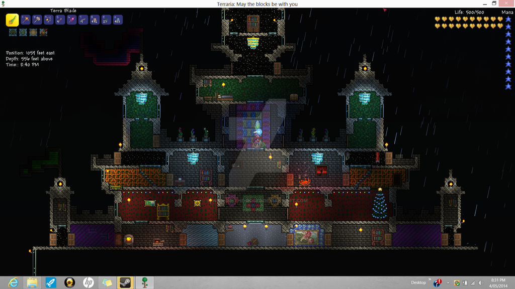 Terraria Castle Half View By War Of The Roses On Deviantart