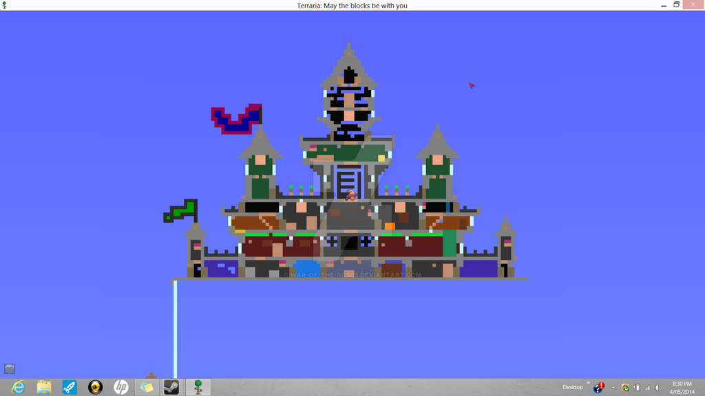 Terraria Castle Full View By War Of The Roses On Deviantart