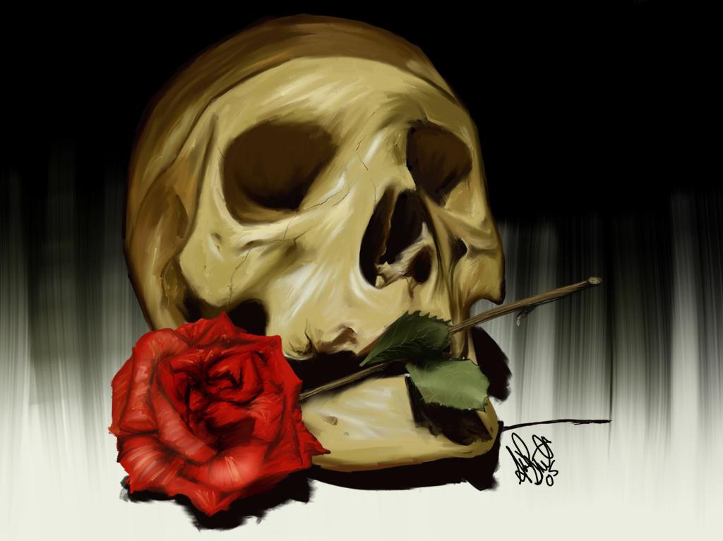 skulls wallpaper. Skull Wallpaper by ~aibrean on
