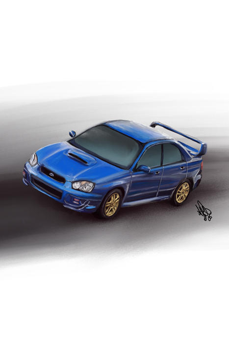Subaru WRX STI Print Version 3 by aibrean
