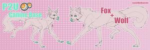 P2U Wolf and Fox Canine Base