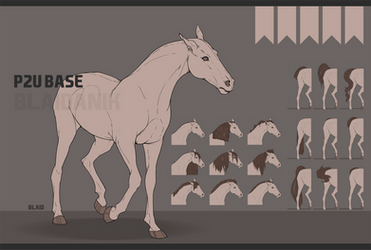 - P2U horse base by LDB-Adopts