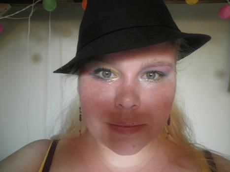 rainbow make-up, in shadow