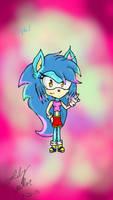 Crystal the hedgehog (Sonar) by Stellathehedgehog1