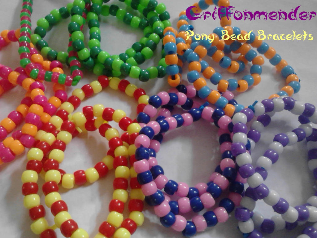 pony bead bracelets by griffonmender on deviantart