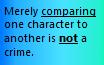 Comparisons hurt no one(Read Desc.) by Griffonmender