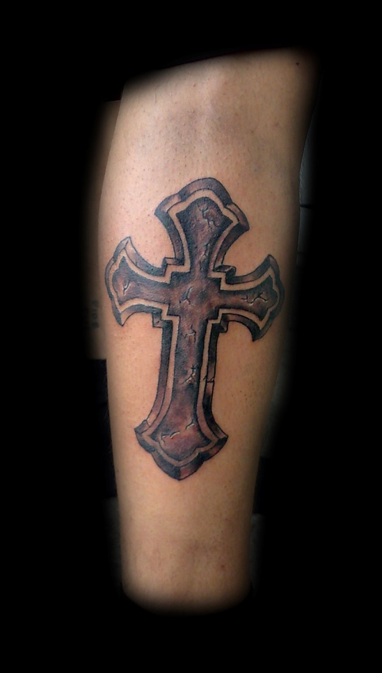 cross tattoo by munky69 on deviantart. Black Bedroom Furniture Sets. Home Design Ideas