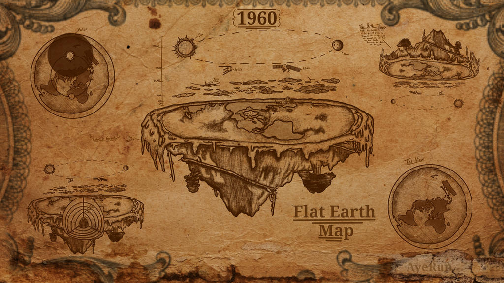Flat earth theory map by ayerun123 on deviantart flat earth theory map by ayerun123 altavistaventures