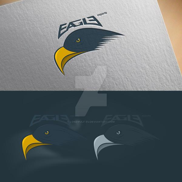 EAGLE e-sports mascot logo by lonewulf-eu