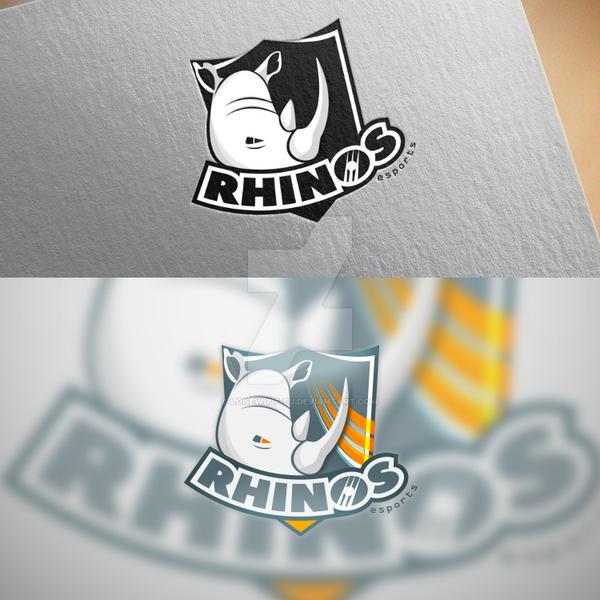 RHINOS e-sports mascot logo by lonewulf-eu