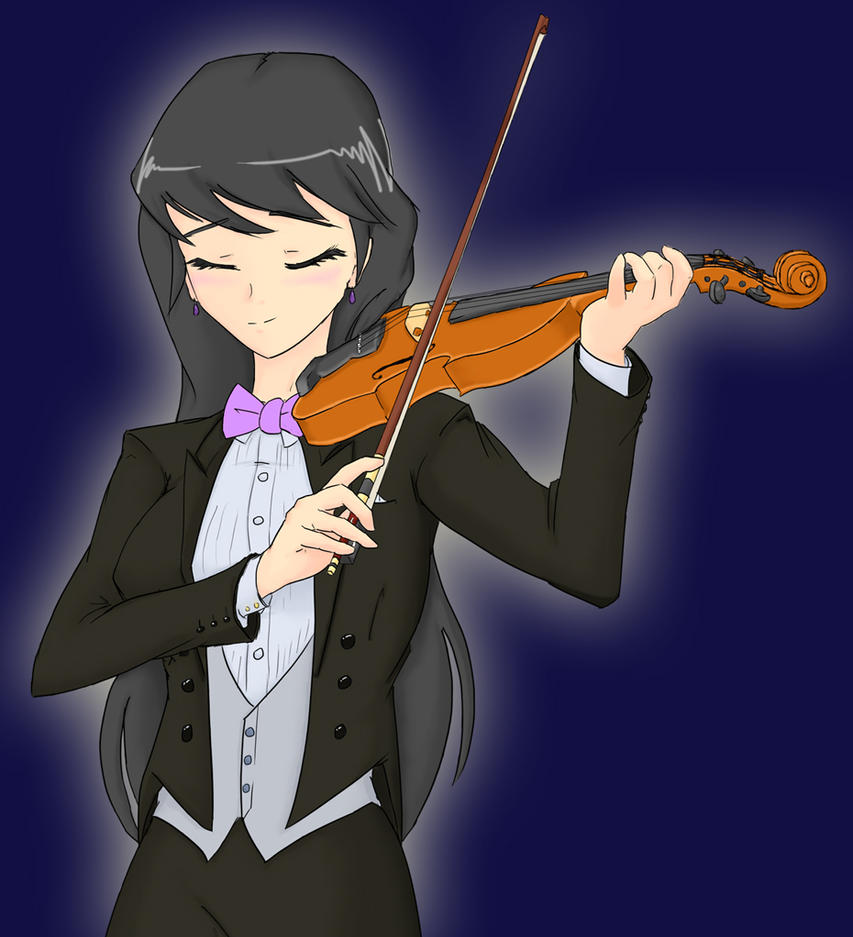 Ask-Human-Octavia: Violin (Higher res clean) by JonFawkes