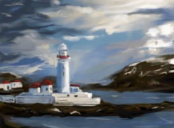 Lighthouse by looneyartbook
