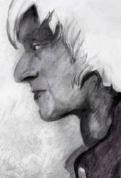 Grey (sketch) by looneyartbook