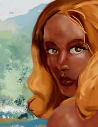 Gold (render study) by looneyartbook