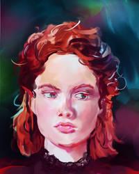 Girl [artist style study] by looneyartbook