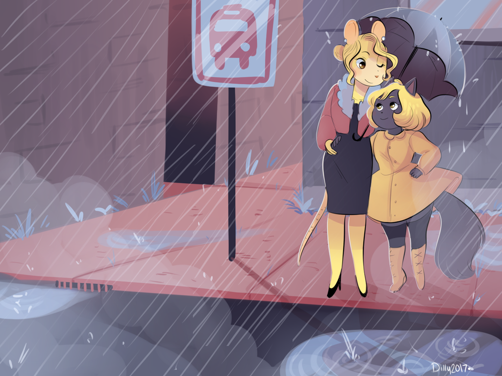 A Moment in the Rain by Papercut-Cranes
