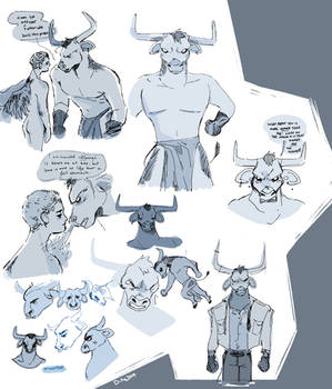 Minotaur Sketches