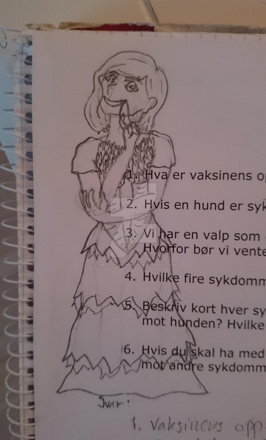 Today's random drawing: A sassy lady in a dress by Elmer157Typhlosion