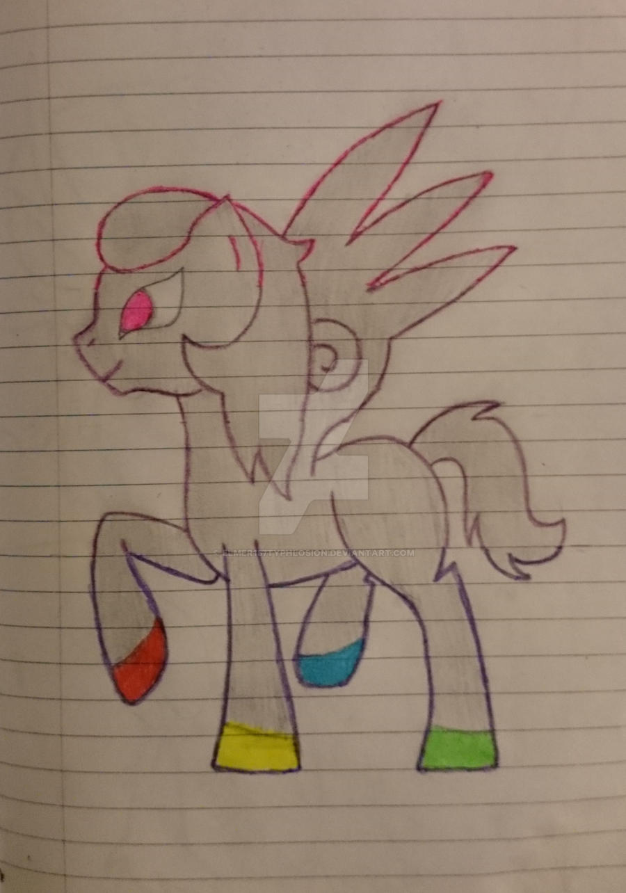 Neon Pegasus - All color by Elmer157Typhlosion
