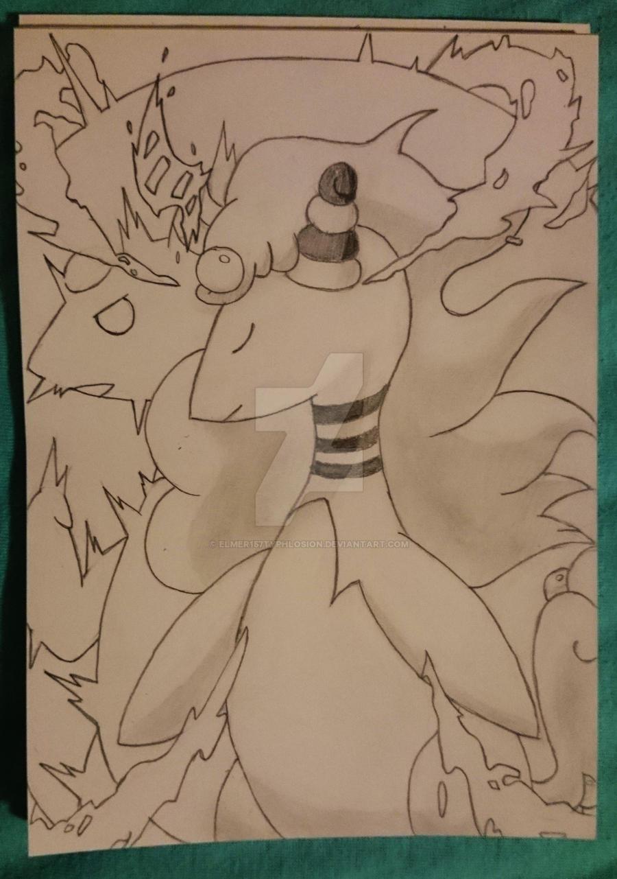Pokemon: Mega Ampharos by Elmer157Typhlosion