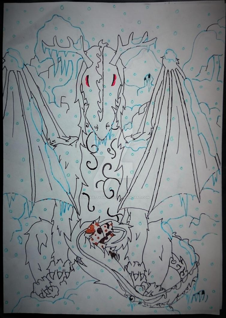 Ice/Fur Dragon the long lasting winter by Elmer157Typhlosion
