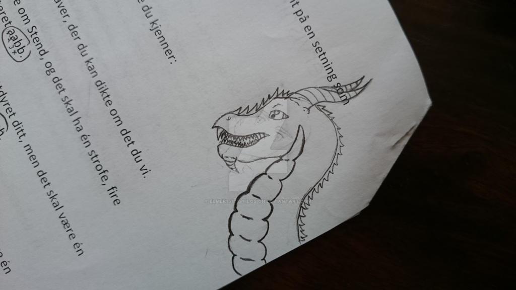 Random dragon doodle ^^'' by Elmer157Typhlosion