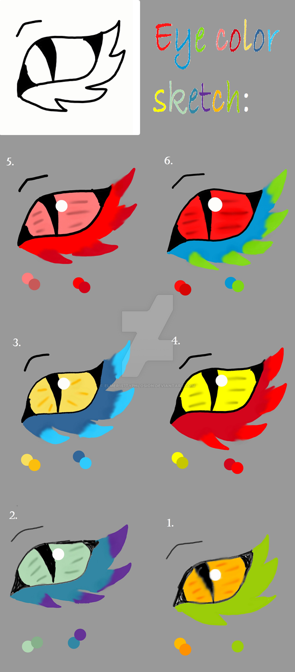 Eye color sketch by Elmer157Typhlosion